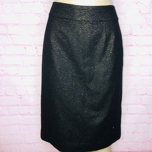 J. Crew metallic flecked wool pencil skirt